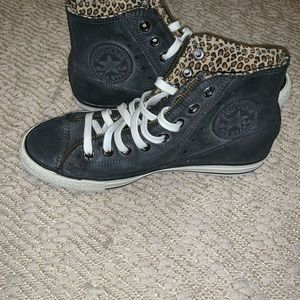 Converse high top leather size 8.5